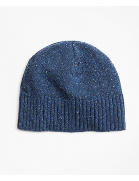 Merino Wool Donegal Knit Hat by Brooks Brothers