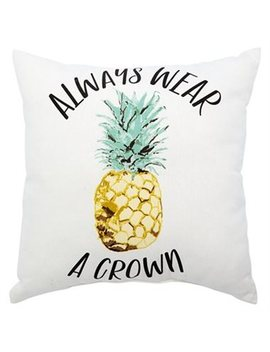 """Expressions Pineapple Crown Outdoor Pillow – 18"""" X 18"""" by Indigo"""