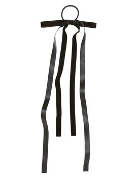 Skinny Double Bow Ponytail Holder by Cara