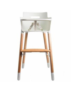 Wooden High Chair For Toddlers And Babies Modern Feeding Highchair Solution With Tray by Flesser