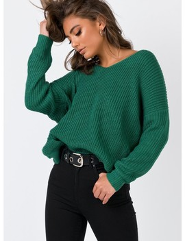 The Larsen Jumper Forest Green by Princess Polly