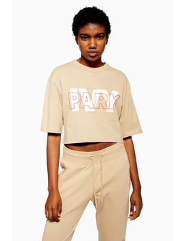 Layer Logo Cropped T Shirt By Ivy Park by Topshop