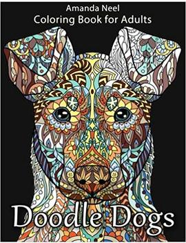 Doodle Dogs Coloring Book For Adults by Happy Coloring