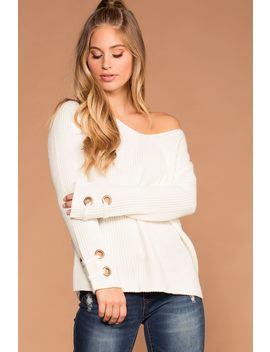 Mia Ivory Knit Sweater by Priceless