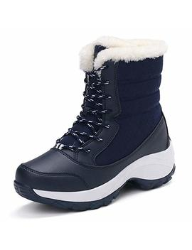 Jackshibo Womens Winter Boots Fur Lined Waterproof Outdoor Snow Boots by Jackshibo