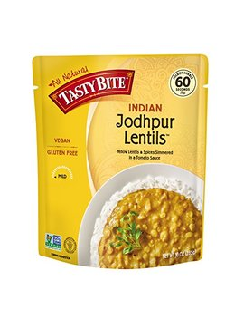 Tasty Bite Indian Entree Jodhpur Lentils 10 Ounce (Pack Of 6), Fully Cooked Indian Entrée With Yellow Lentils And Spices In A Tomato Sauce, Vegan, Gluten Free, Microwaveable, Ready To Eat by Tasty Bite