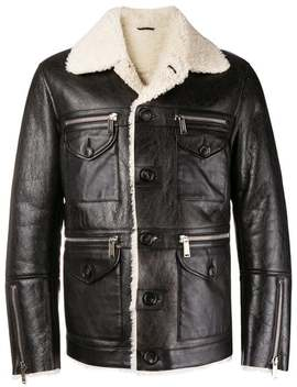 Lambs Fur Trimmed Jacket by Dsquared2