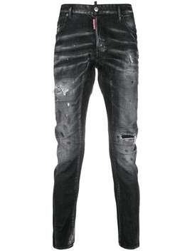 Tapered Distressed Jeans by Dsquared2