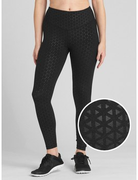 Gap Fit Blackout V Waist Shine Print Full Length Leggings by Gap