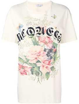 Logo Floral Print T Shirt by Alexander Mc Queen