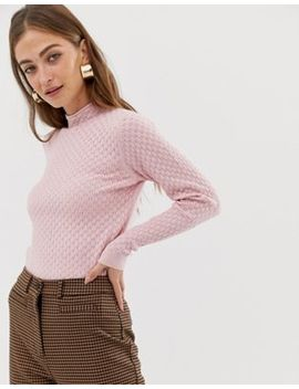 Warehouse – Strickpullover In Hellrosa by Asos