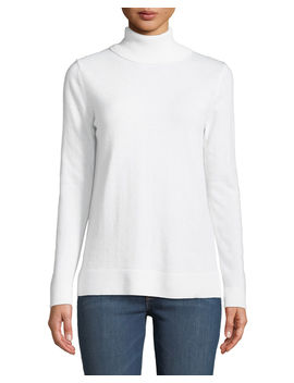 Modern Cashmere Turtleneck Sweater by Neiman Marcus Cashmere Collection