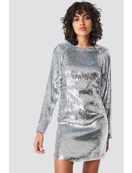 Marked Shoulder Sequins Mini Dress by Na Kd Party