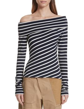 Stripe Off The Shoulder Top by Monse