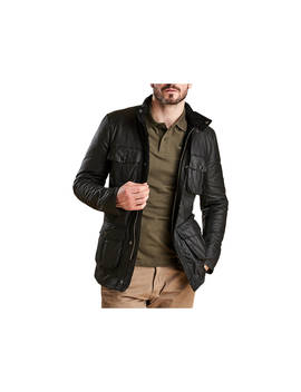 Barbour Corbridge Waxed Utility Jacket, Black by Barbour