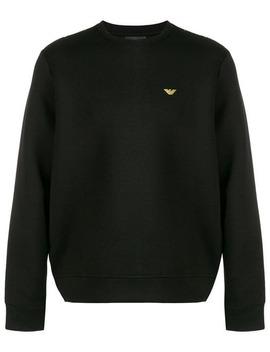 Embroidered Logo Sweatshirt by Emporio Armani