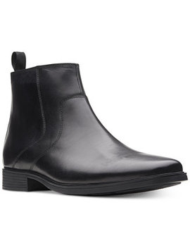 Men's Tilden Zip Waterproof Leather Boots, Created For Macy's by Clarks