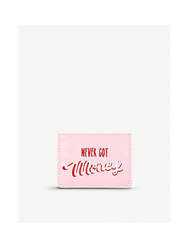 Never Got Money Embroidered Card Holder by Skinnydip