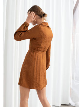 Belted Leopard Wrap Mini Dress by & Other Stories