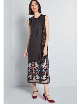 Life In Sequins Midi Dress by Anna Sui