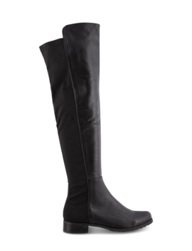 Panache Black Luxe/Black Micro Stretch Long Boots by Tony Bianco