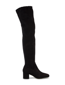 Amani Black Micro Stretch Suede Long Boots by Tony Bianco