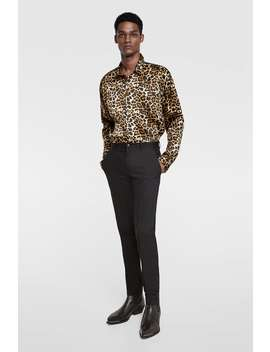 Animal Print Satin Shirt  Partyman by Zara