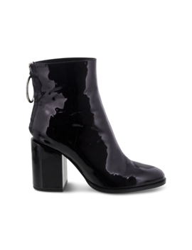 Faya Black Patent Ankle Boots by Tony Bianco