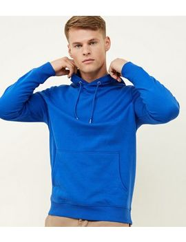 Bright Blue Pocket Front Hoodie by New Look