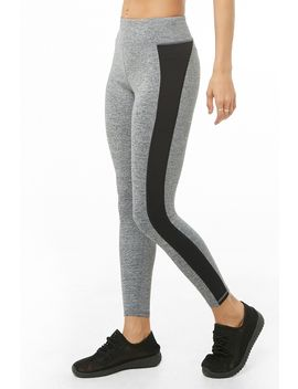 Active Marled Ankle Biter Leggings by Forever 21