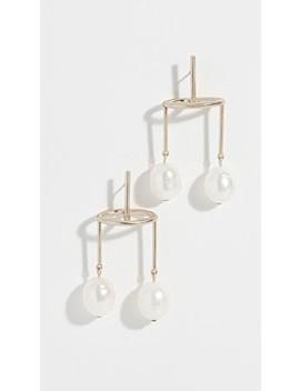 Baroque Double Pearl Earrings by Tory Burch