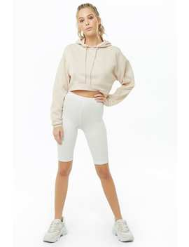 Active Hooded Fleece Cropped Top by Forever 21