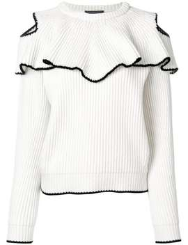Ribbed Ruffle Jumper by Alexander Mc Queen
