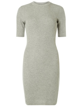 Grey Marl High Neck Knitted Dress by Dorothy Perkins