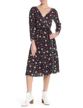 Floral Silk Wrap Midi Dress by Marc Jacobs