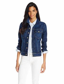 7 For All Mankind Women's Classic Denim Jacket In Eden Port by 7+For+All+Mankind