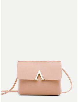 V Cut Flap Crossbody Bag by Shein