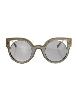 Cat Eye Metal Sunglasses by Fendi