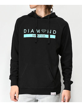Diamond Supply Co. Stone Cut Black & Blue Hoodie by Diamond Supply