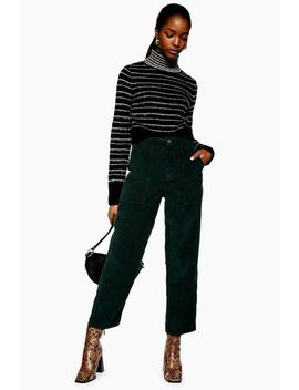 High Waisted Corduroy Trousers by Topshop