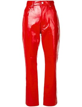 Faux Patent Trousers by Msgm