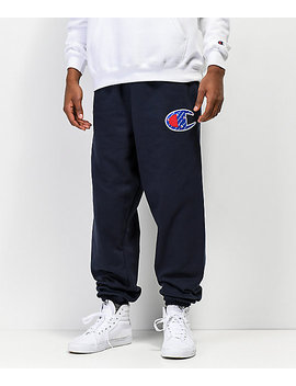 Champion Reverse Weave Sublimated C Logo Navy Jogger Pants by Champion