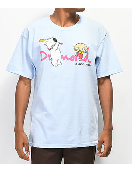 Diamond Supply Co. X Family Guy Og Script Blue T Shirt by Diamond Supply