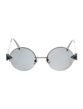 Round Tinted Sunglasses by Fendi