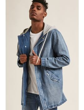 Hooded Denim Jacket by Forever 21