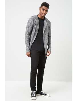 Marled Hooded Cardigan by Forever 21