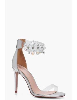 Sophia Jewel Embellished 2 Part Heels by Boohoo