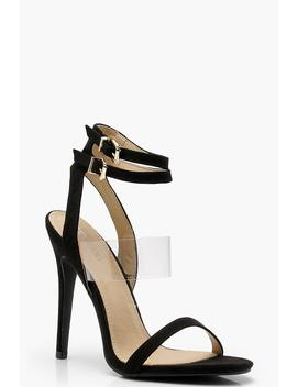 Clear Panel Double Buckle Sandals by Boohoo