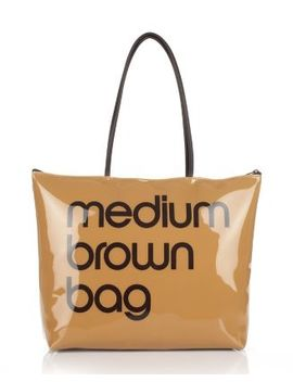 Zip Top Medium Brown Bag   100 Percents Exclusive by Bloomingdale's