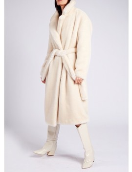 Luxe Faux Fur Oversized Trench by Tibi